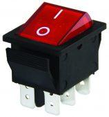 W-502A 6 Pin Işıklı Geniş Tip ON/OFF Anahtar