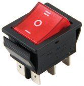 KCD-502 6 Pin Işıklı Geniş Tip Anahtar ON/OFF/ON